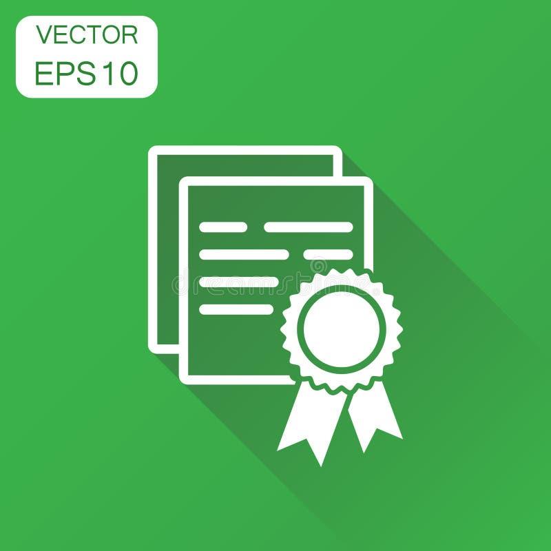 Certifikatsymbol Pictogram för affärsidédiplomutmärkelse Vect vektor illustrationer