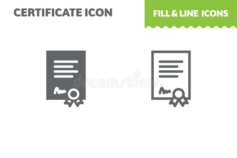 Certifique el icono, vector libre illustration