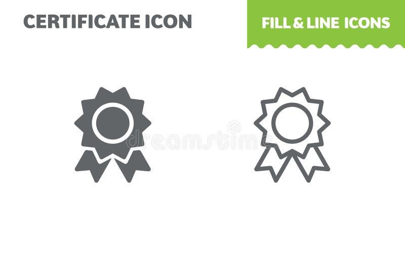 Certifique el icono, vector ilustración del vector