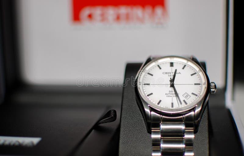 Certina ds-1 Automatisch horloge stock afbeelding