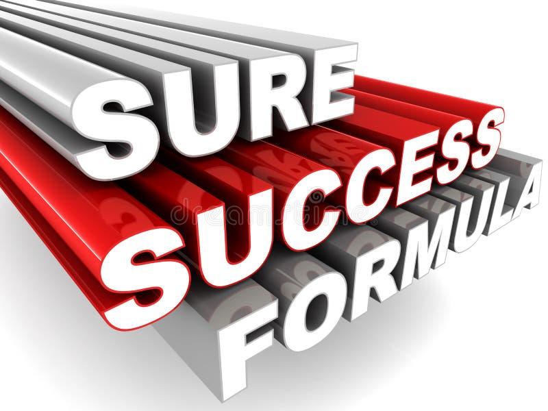 Certo fórmula do sucesso ilustração do vetor