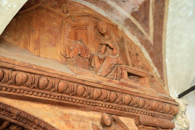 Certosa二帕尔瓦 库存照片
