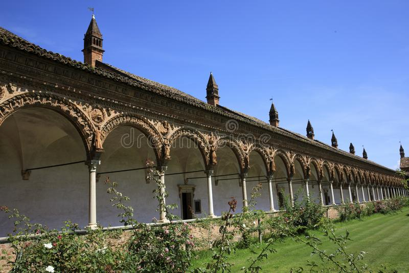 Certosa二帕尔瓦 免版税库存图片