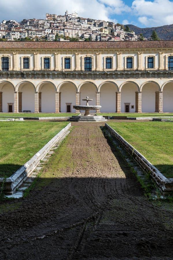 Certosa二帕杜拉,萨莱诺 意大利 图库摄影