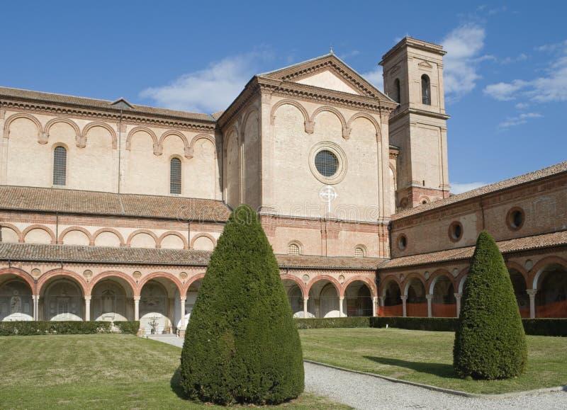 Certosa修道院在费拉拉,意大利 免版税库存图片