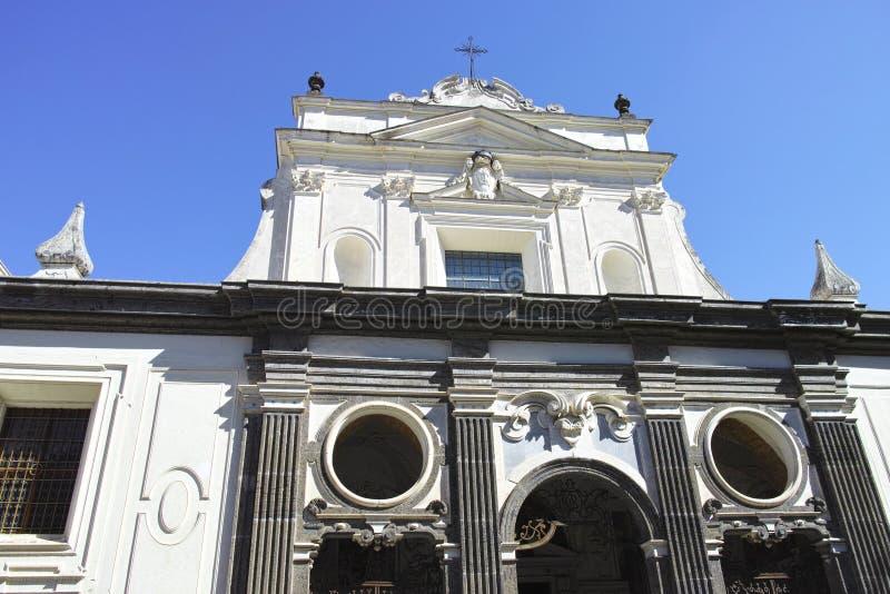 certosa圣马蒂诺门面在那不勒斯 库存图片