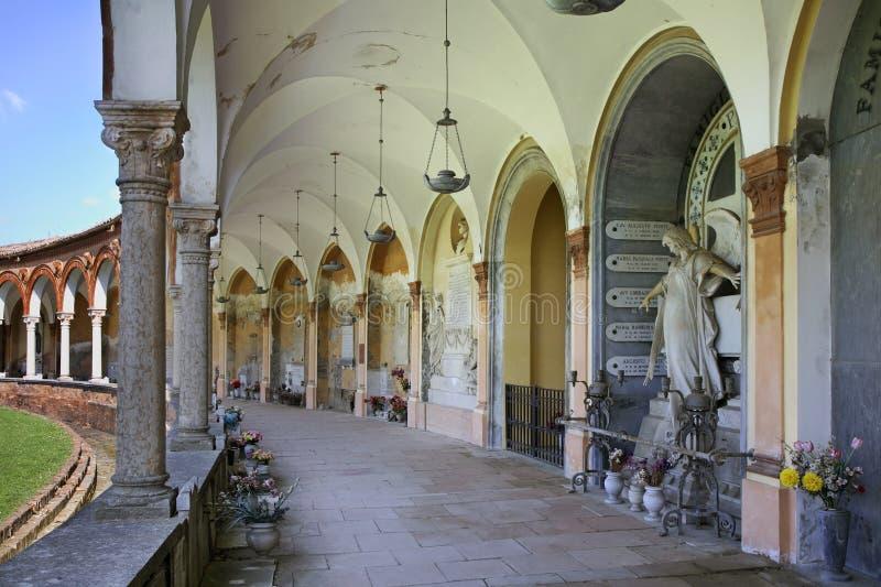 Certosa av den Ferrara - San Cristoforo allaen Certosa i Ferrara italy royaltyfri fotografi