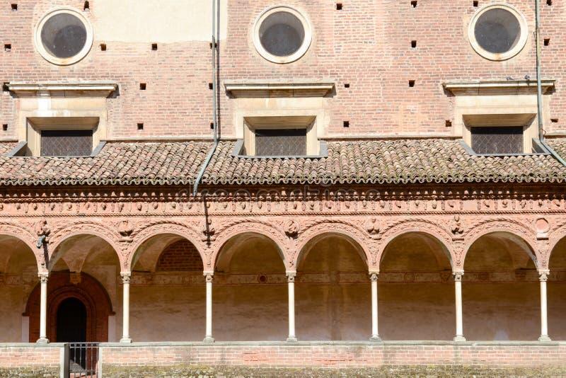 Certosa av den Pavia den medeltida kyrkan och kloster i Pavia arkivfoto