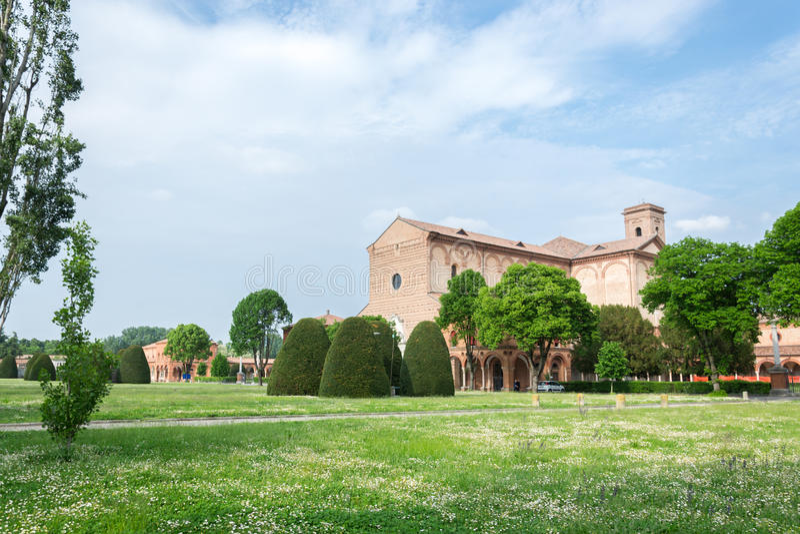 Certosa av Ferrara royaltyfria foton