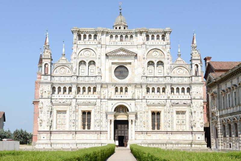 Certosa av Pavia den medeltida kloster i Pavia arkivbilder