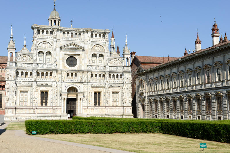 Certosa av Pavia den medeltida kloster i Pavia royaltyfri bild