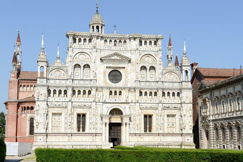 Certosa av Pavia den medeltida kloster i Pavia arkivfoto