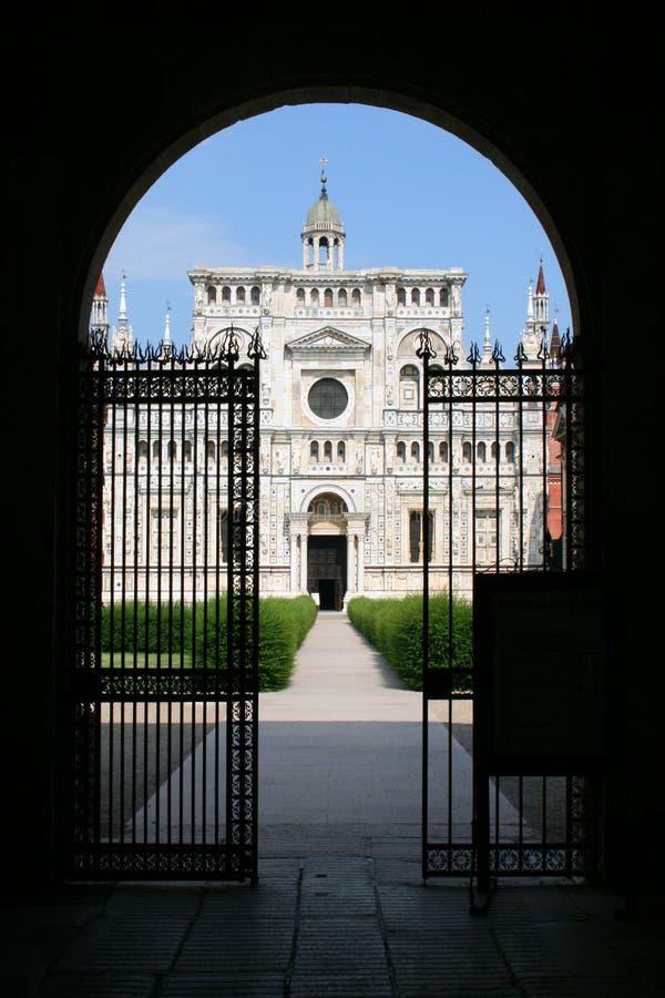 Certosa de Pavia fotografia de stock