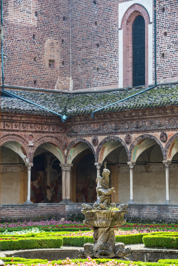 Certosa di Pavia, kloster arkivbilder