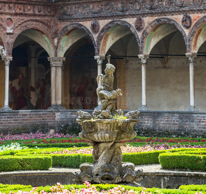 Certosa di Pavia, kloster fotografering för bildbyråer