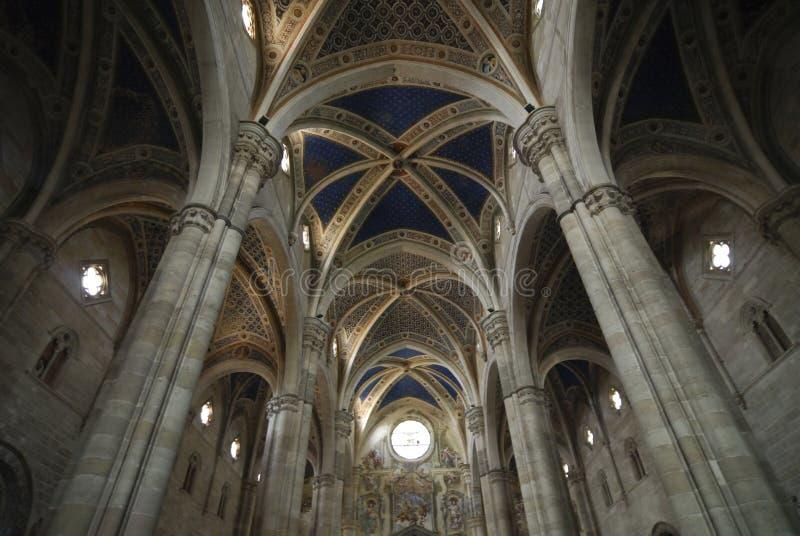 Certosa di Pavia, kościelny wnętrze (Włochy) obrazy stock
