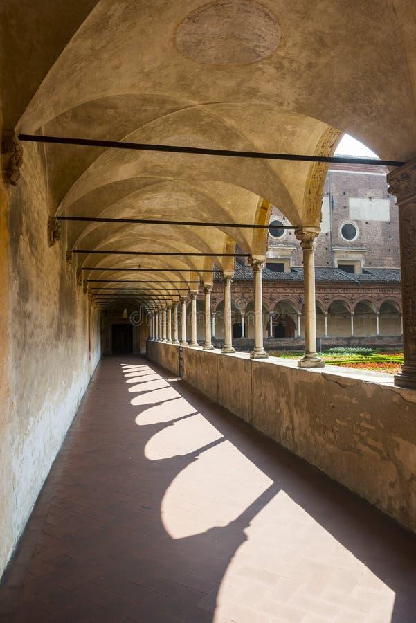 Certosa di Pavia, przyklasztorny zdjęcia stock