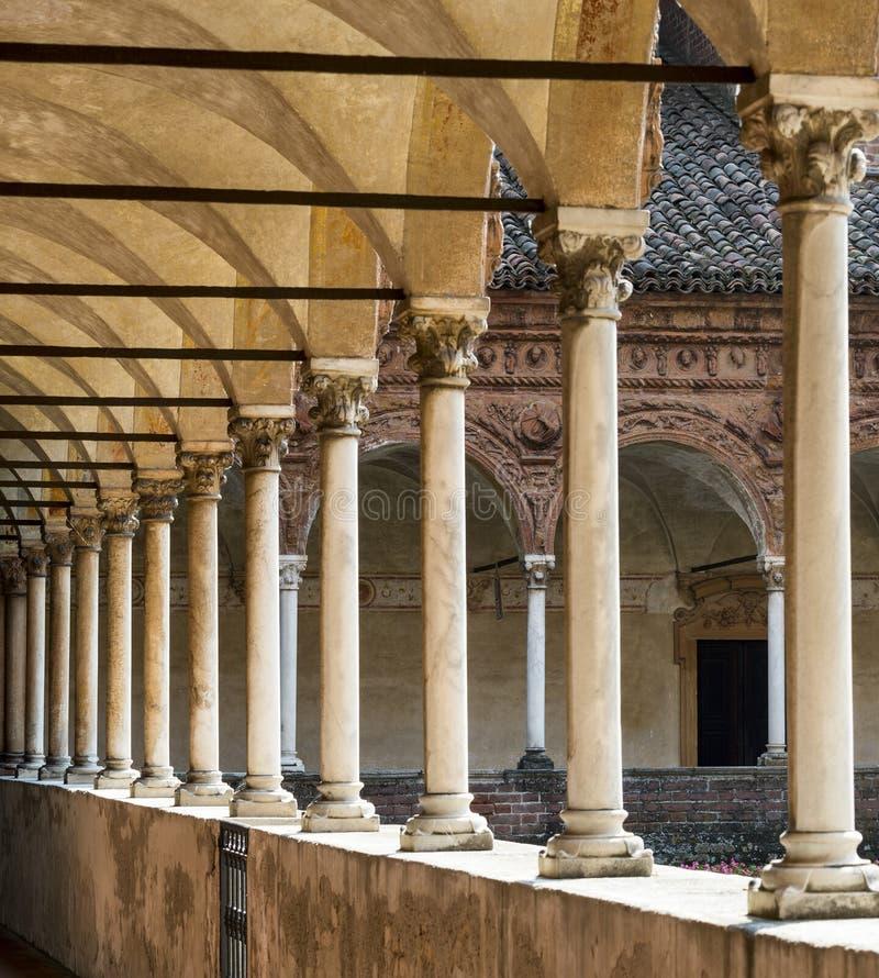 Certosa di Pavia, przyklasztorny zdjęcie stock