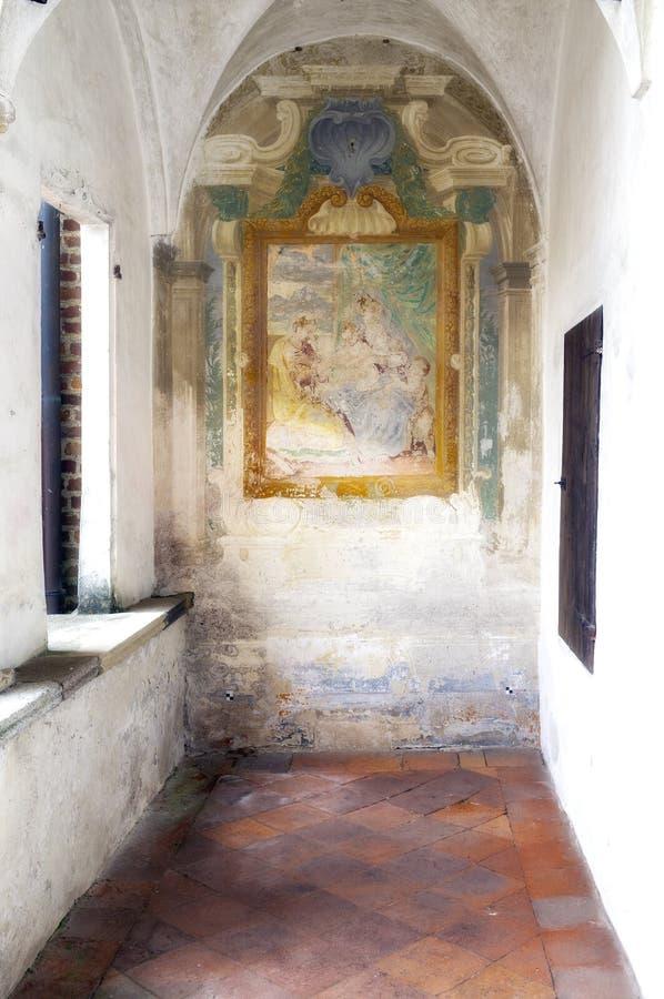 Certosa di Pavia, wewnętrzny szczegół koloru córek wizerunku matka dwa obrazy stock