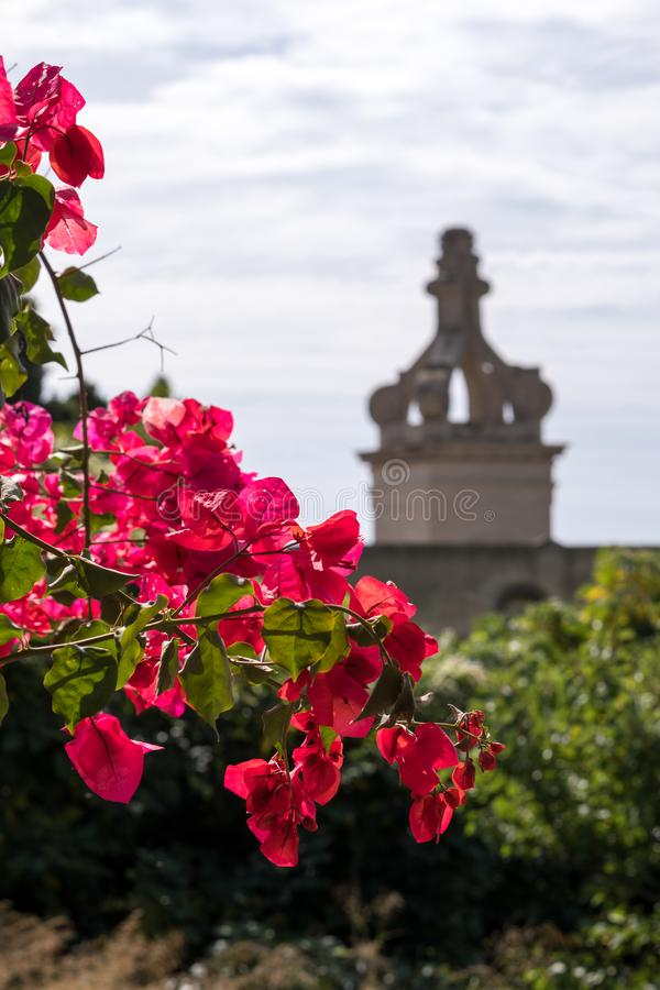 Certosa di San Giacomo, igualmente conhecido como o Charterhouse de St Giacomo ou o monastério cartuxo, na ilha de Capri, Itália fotos de stock royalty free