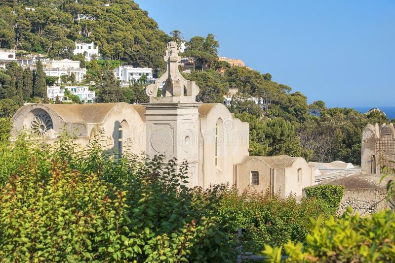 Certosa di San Giacomo, monastero Carthusian, Capri, Italia fotografia stock