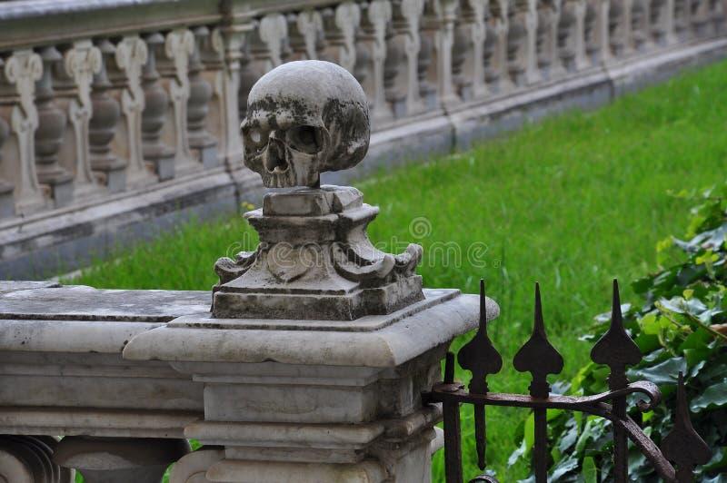 Certosa di San Martino, Napoli - Napoli, Italia dettaglio del cranio fotografia stock libera da diritti