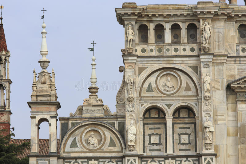 Certosa Pavia, Włochy obrazy royalty free