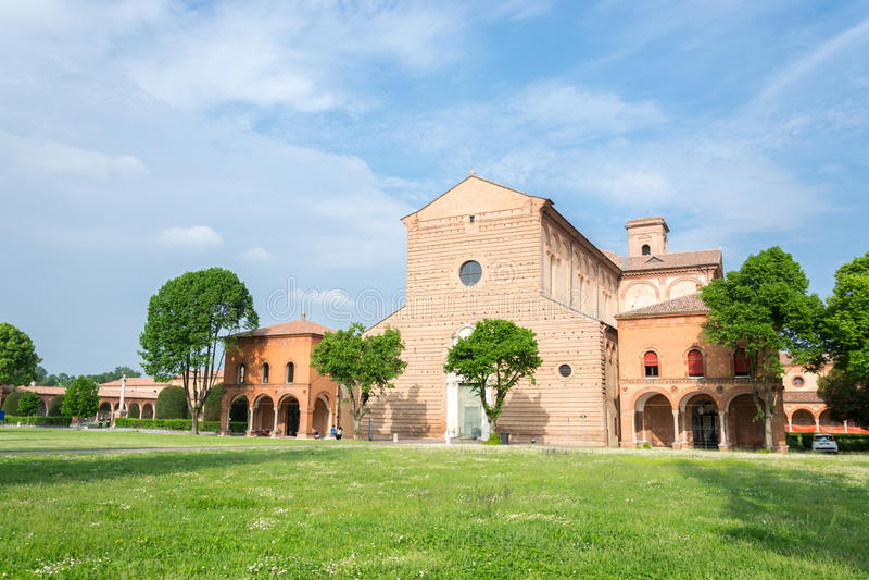 Certosa van Ferrara stock afbeeldingen