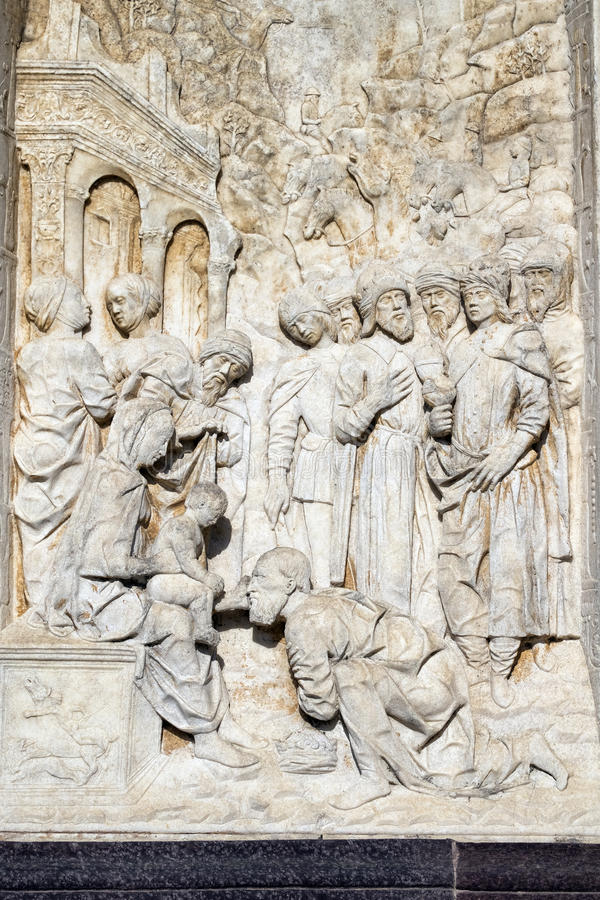 Certosadi Pavia Italië, historische kerk stock foto
