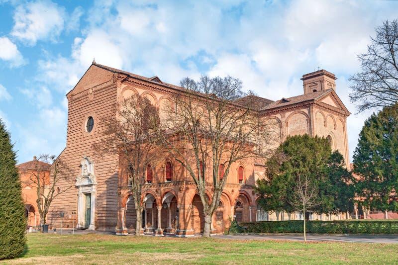 Certosaen av Ferrara, Italien royaltyfria foton