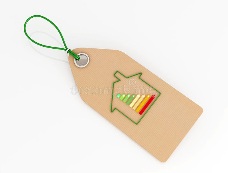 certyfikat etykietka energiczna domowa ilustracji