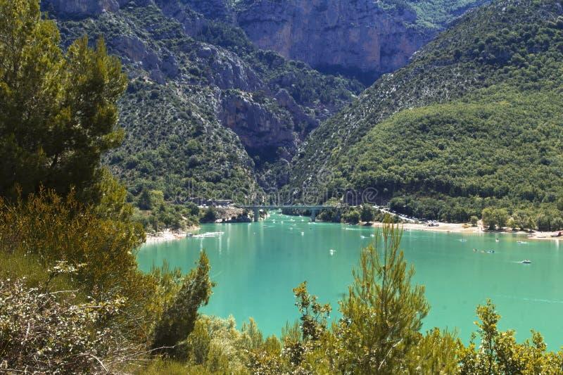 The Cerulean Blue Lac Sainte Croix Du Verdon royalty free stock image