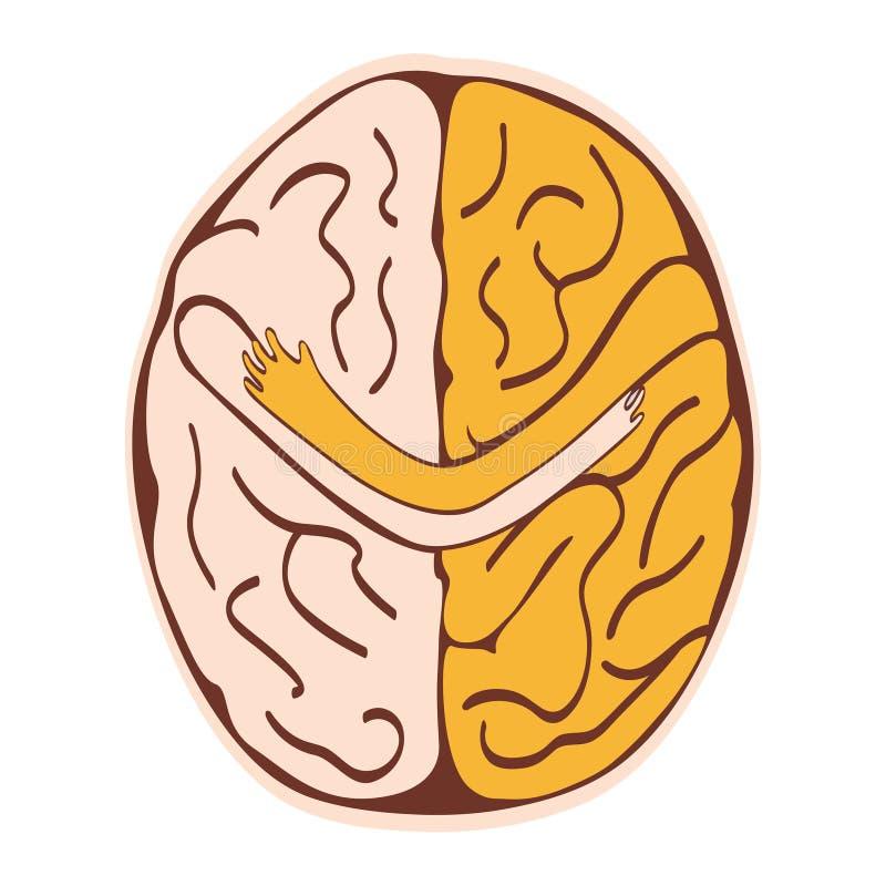 Cerveau amical illustration stock