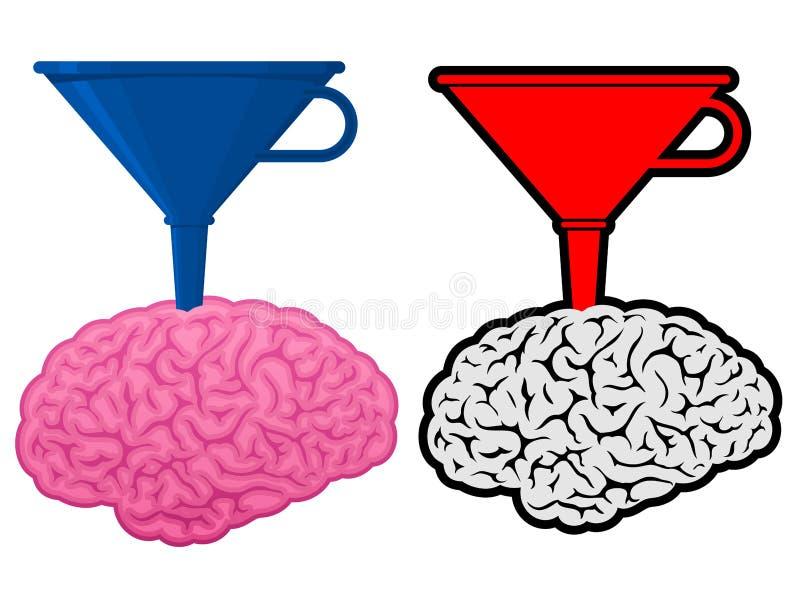Cerveau avec l'entonnoir de cône illustration libre de droits