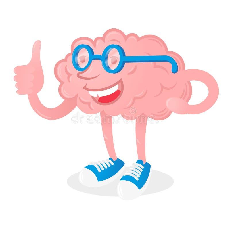 Cerveau avec la bonne idée illustration libre de droits