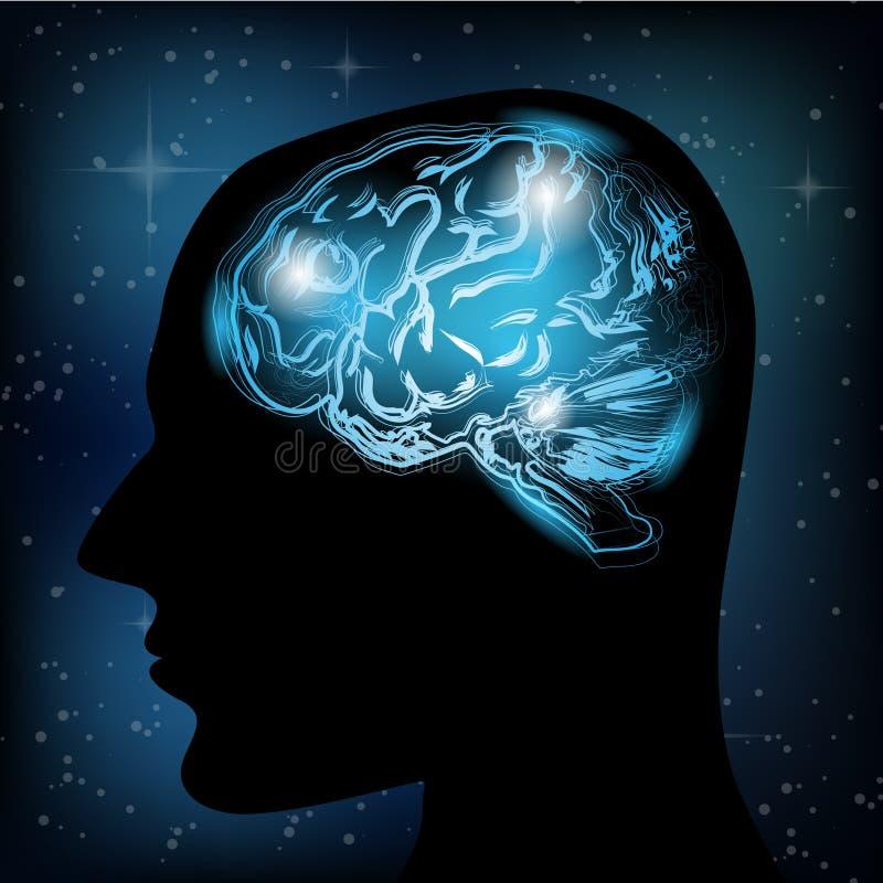 Cerveau créatif de vecteur illustration de vecteur
