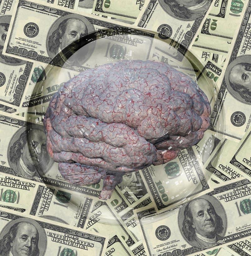Cerveau d'argent illustration stock