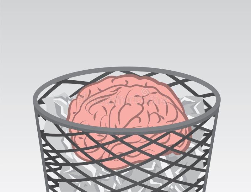Cerveau de déchets illustration stock
