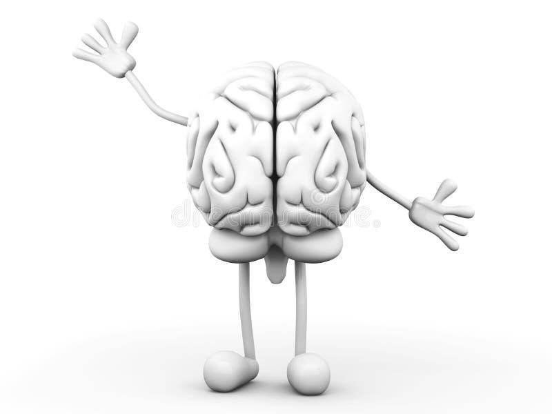 Cerveau de dessin animé illustration libre de droits