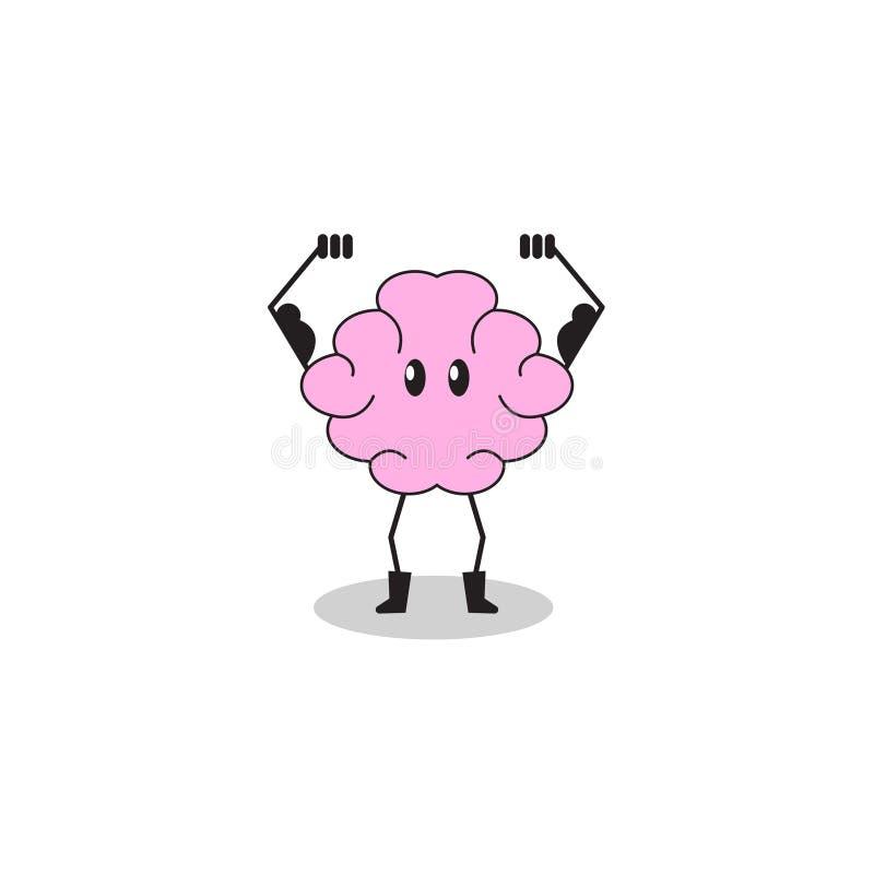 Cerveau de personnage de dessin animé illustration de vecteur
