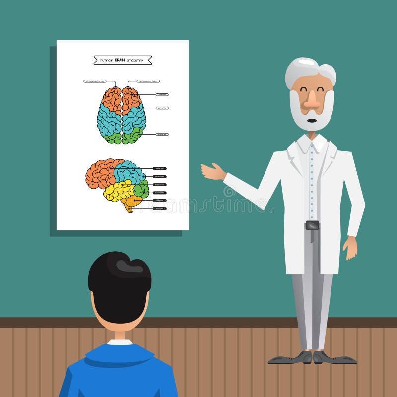 Cerveau de structure et d'anatomie illustration libre de droits