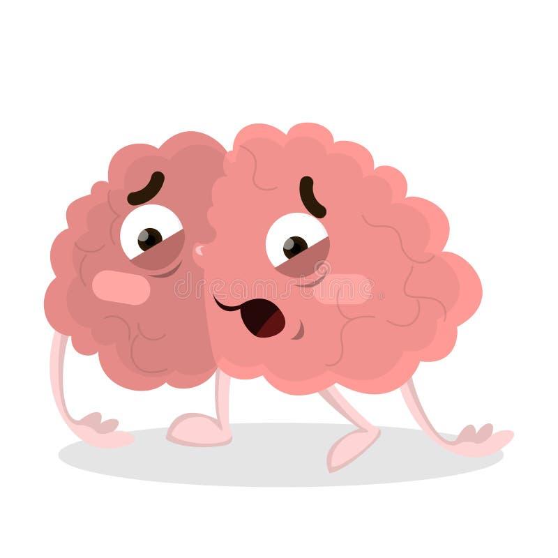 cerveau fatigué illustration libre de droits