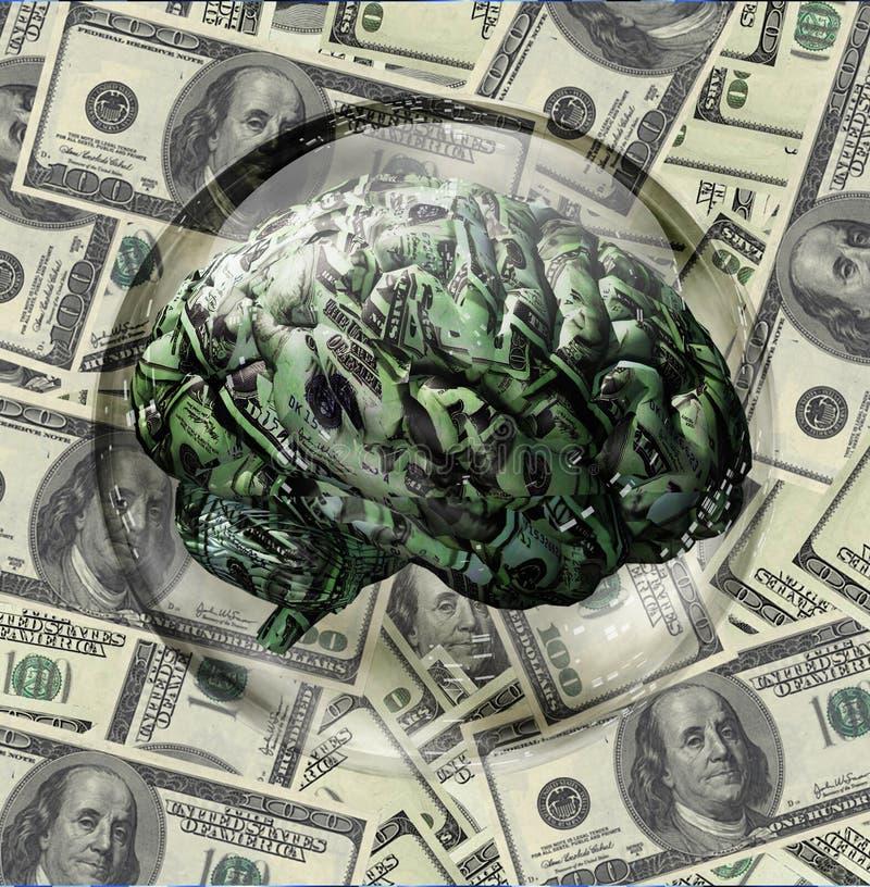 Cerveau financier illustration stock