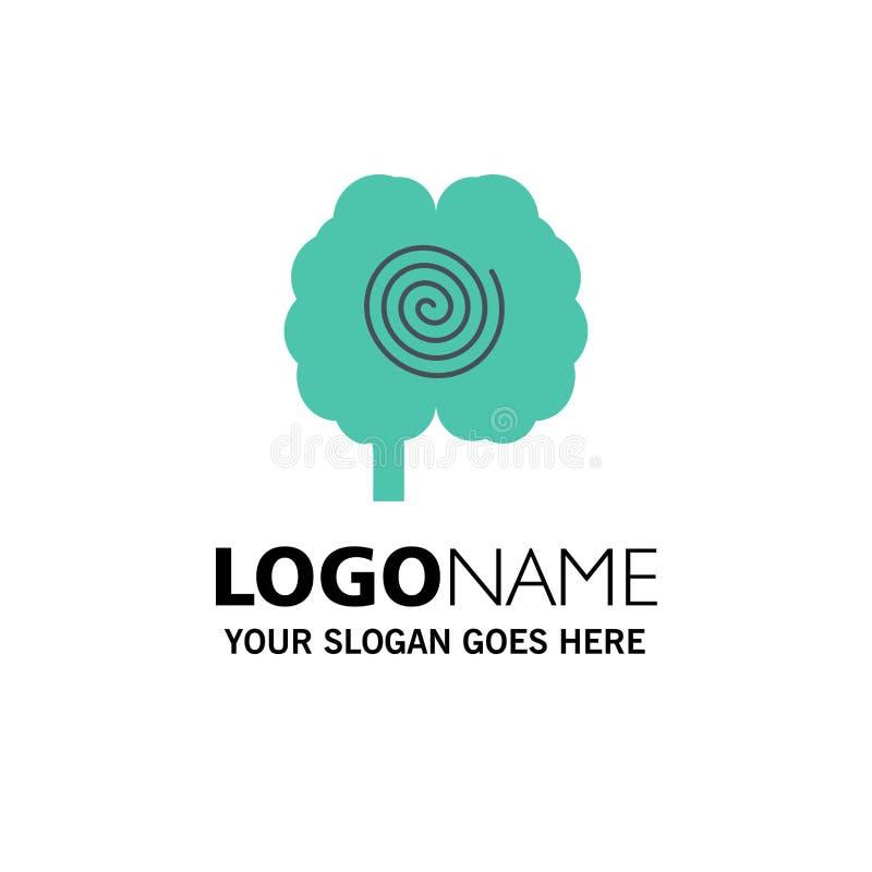 Cerveau, tête, hypnose, affaires Logo Template de psychologie couleur plate illustration libre de droits