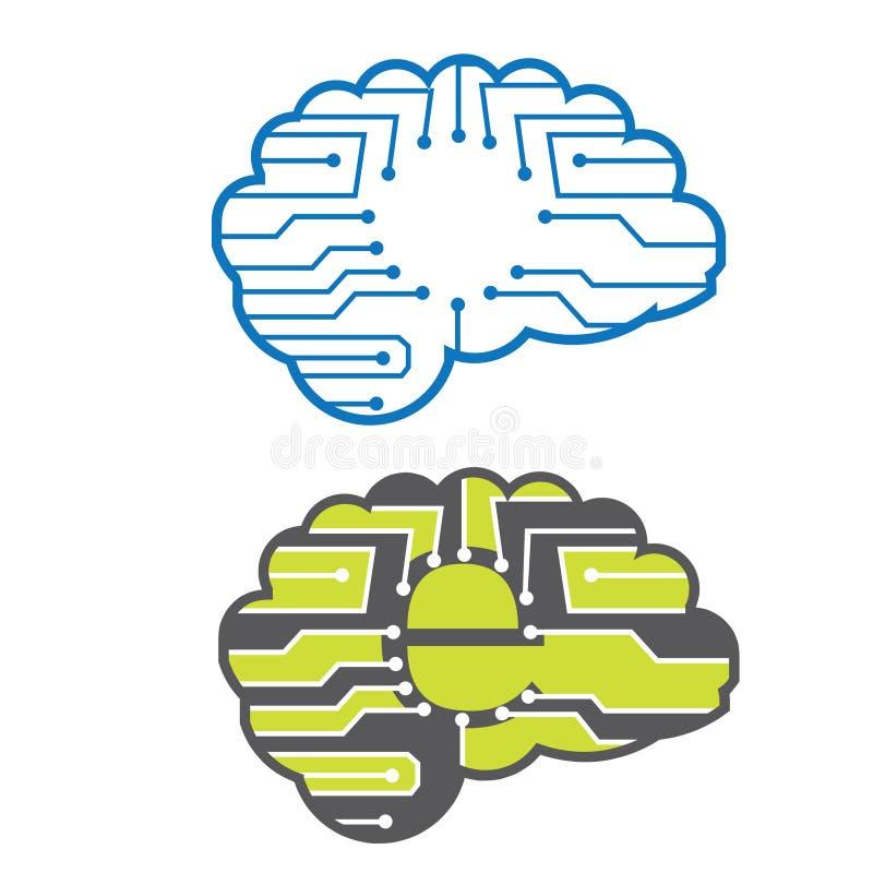Cerveaux électroniques illustration de vecteur