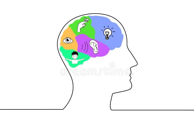 Cerveaux et idée illustration de vecteur