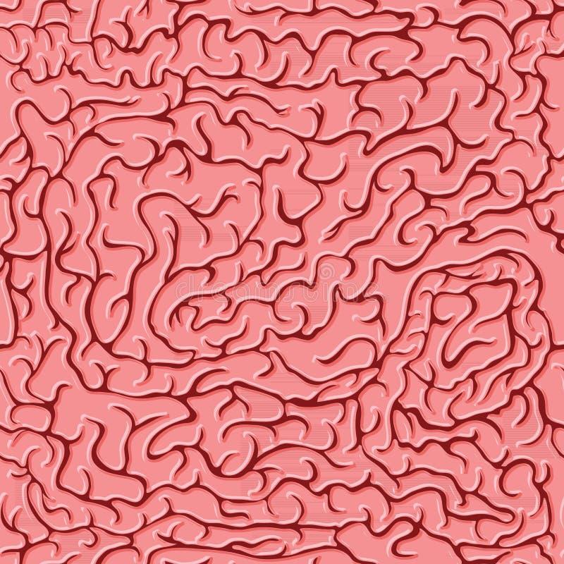 Cerveaux sans couture de modèle Illustration de vecteur illustration stock