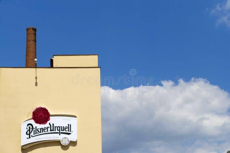 Cervecería de Pilsner Urquell fotografía de archivo libre de regalías