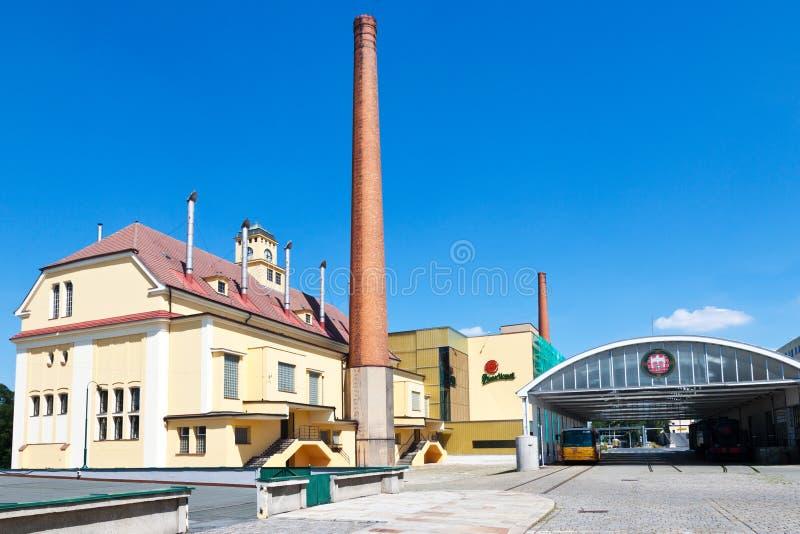 Cervecería de Pilsner Urquell a partir de 1839, Pilsen, República Checa foto de archivo libre de regalías