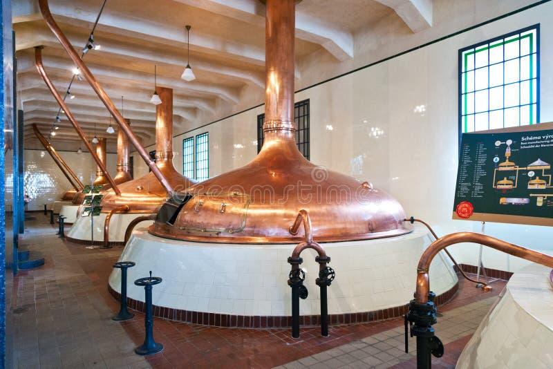 Cervecería de Pilsner Urquell a partir de 1839, Pilsen, República Checa fotografía de archivo libre de regalías